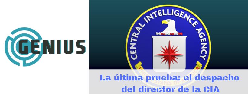 «La última prueba: el despacho del director de la CIA» de Genius Escape Room (Valencia)