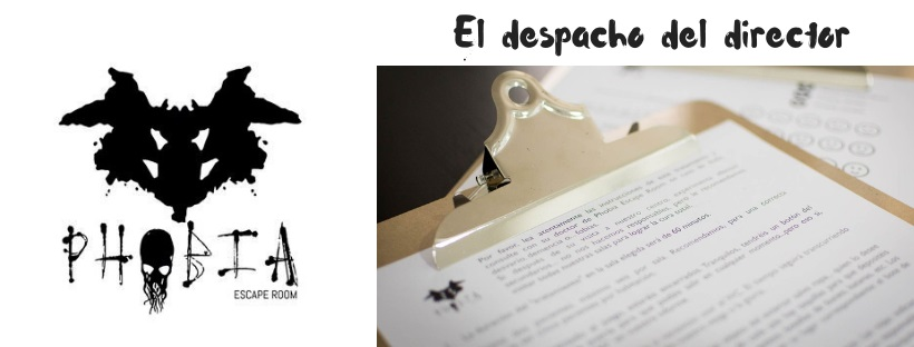 «El despacho del director» de Phobia Escape Room (Madrid)