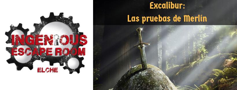 «Excálibur: las pruebas de Merlín» de Ingenious Escape Room (Elche)