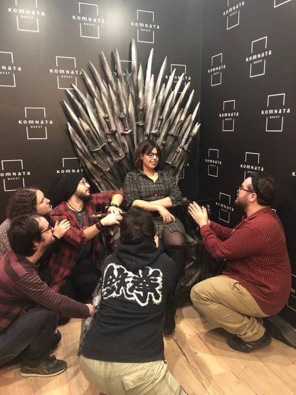 Foto de «El trono de hierro» de Komnata Quest (Elche)