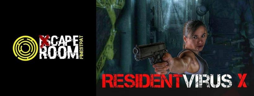 Cabecera Resident virus X Xcape room