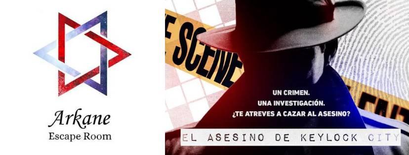 Portada de «El asesino de Keylock City» de Arkane (Murcia)