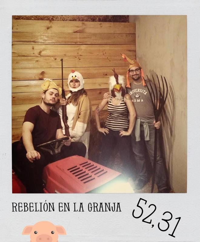 Foto de «Rebelión en la granja» de Rubikon Escape (Madrid)