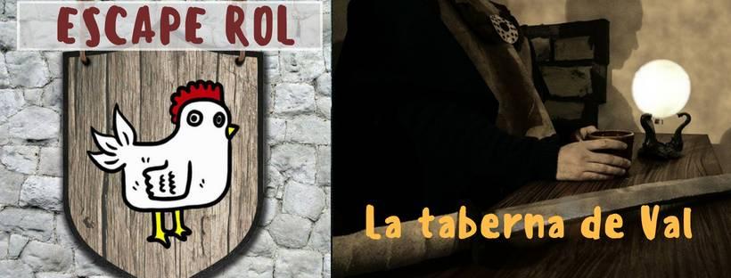 "Portada de ""La taberna de Val"" de Escape Rol (Elche)"