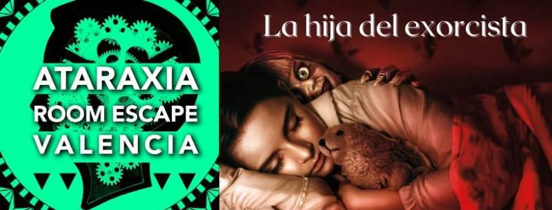 Portada La hija del exorcista de Ataraxia Escape room Valencia